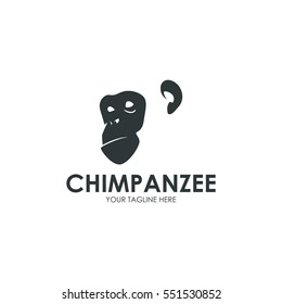 Primate, monkey, gorilla simple modern negative space