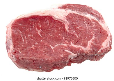 A prime cut of ribeye beef steak, isolated. VECTOR