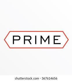 Prime modern vector logo