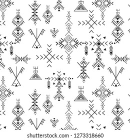 primitive berber signs pattern,repeated ethnic elements,vector illustration