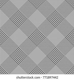 Prince of Wales check. Diagonal print. Seamless glen plaid pattern.