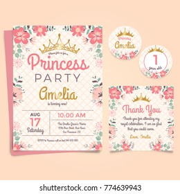 Princes Party Birthday Invitation