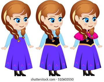 Princess Anna (vector character for animation)