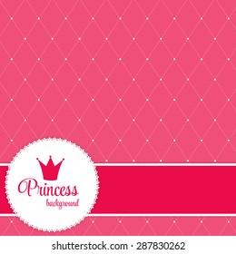 Princess Crown  Background Vector Illustration. EPS10