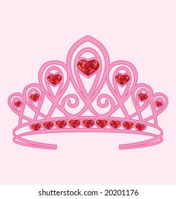 PRINCESS CROWN. Costume accessory. Editable vector illustration file.