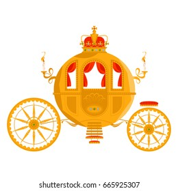 Princess Fantasy Carriage. Vector illustration.