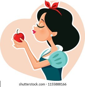 Princess Holding Red Poison Apple