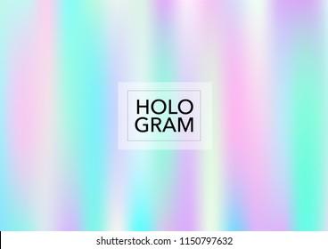 Princess Hologram Lights Vector Background. Soft Trendy Tender Pearlescent Rainbow Overlay. Vibrant Holographic Princess, Fairytale, Cute Girlie Texture. Unicorn Fairy Tale Glitch Hologram Gradient