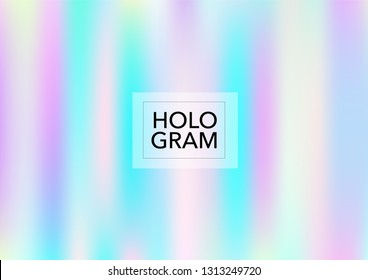 Princess Hologram Lights Vector Background. Bright Trendy Tender Pearlescent Color Overlay. Rainbow Holographic Princess, Fairytale, Cute Girlie Texture. Unicorn Fairy Tale Glitch Hologram Gradient