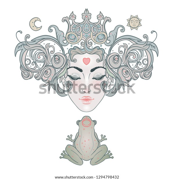 Fantasy Art Princess With Child