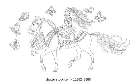 Princess Riding Horse High Res Stock Images Shutterstock