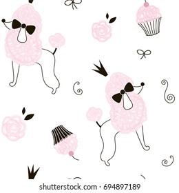 princess poodle dog pattern