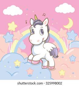 princess rainbow in the sky