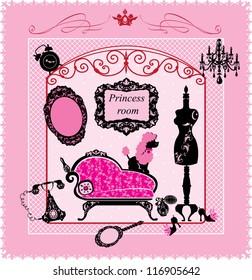 Princess Room - illustration for girls