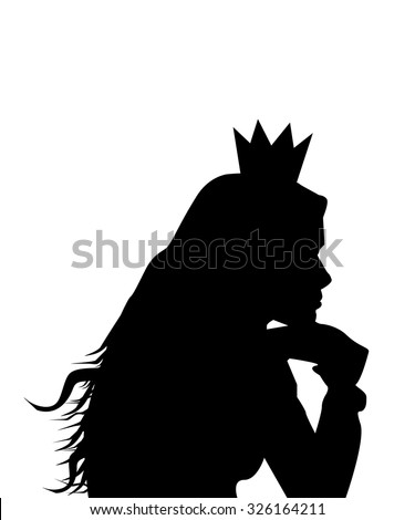princess silhouette vector stock vector royalty free 326164211