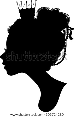 princess silhouette vector illustration stock vector royalty free