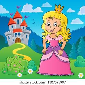 Princess topic image 1 - eps10 vector illustration.