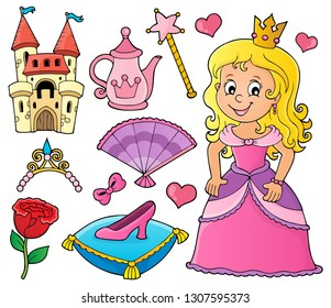 Princess topic set 1 - eps10 vector illustration.