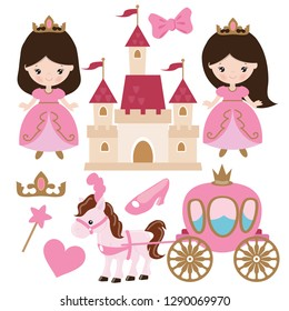 Princess vector cartoon illustration