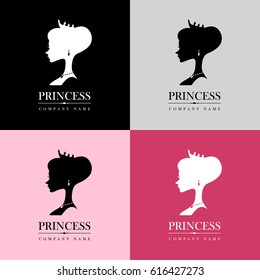 Princess wearing a crown / Logo Set illustration