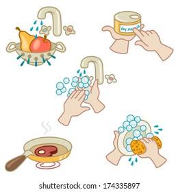Lavar Alimento Images Stock Photos Vectors Shutterstock