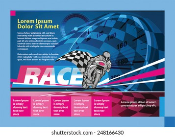 print ad or poster for motor racing event