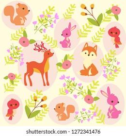 print cute animal background
