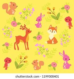 print cute animal pattern