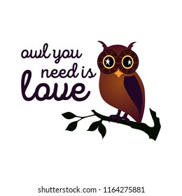 print design, t shirt vector tee grapic design. Funny owl typography