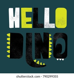 print design as vector with dinosaur concept typo