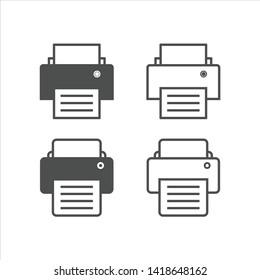 Print icon logo template vector