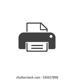 print icon on the white background