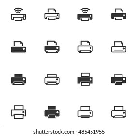 Print icon set for web sites and user interface