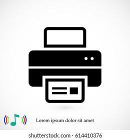 print icon, vector illustration. Flat design eps 10