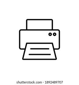 Print icon vector. printer icon vector.