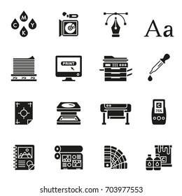 Print icons set elegant series.