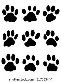 Print of jaguar's paw, vector