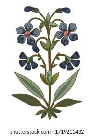 Print mughal flower motif bunch