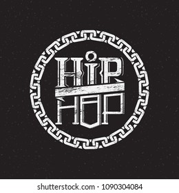 print on t-shirt or poster of hip hop
