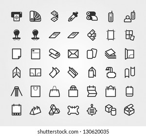 Print & Prepress Icons Set