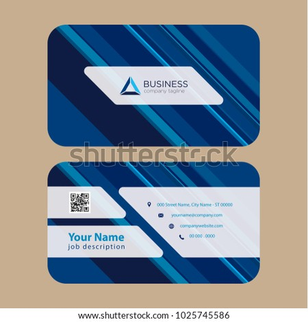 2e09fa7775ffa Print Ready Professional Business Card Multi Stock Vector (Royalty ...