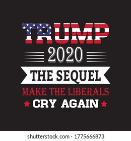 Print Ready Vintage Trump T-shirt Design 2020.Also use for badge, emblems, poster, mug and bag