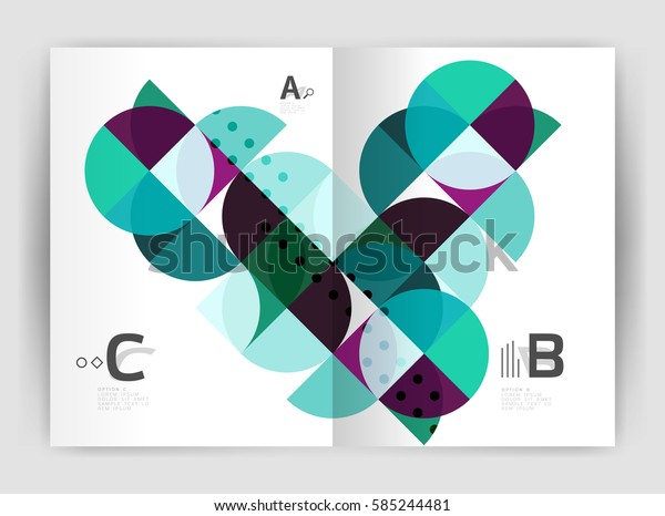 Print template modern elegant background triangle annual report. Vector design for workflow layout, diagram, number options or web design