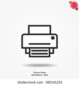 Print vector icon.