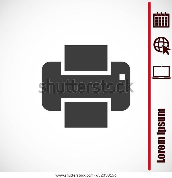 Print vector icon