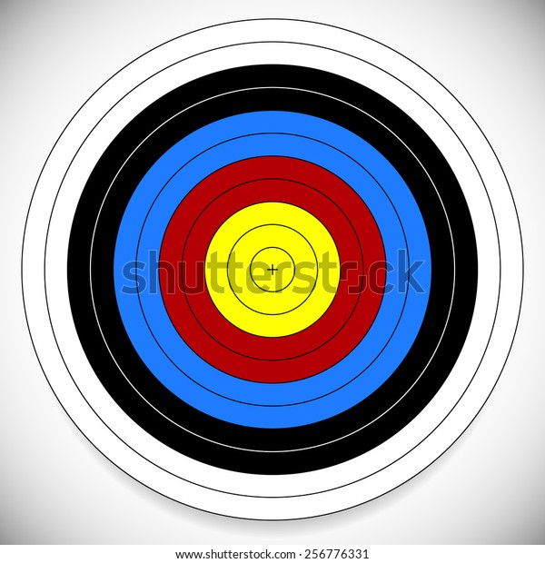 photograph regarding Printable Archery Targets titled Printable Archery Arrow Focus Cross Heart Inventory Vector