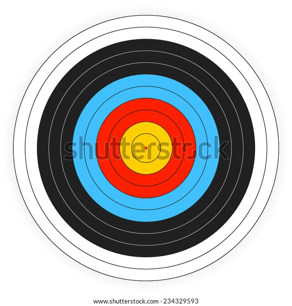 image regarding Printable Archery Targets identify Printable Archery Aim History Inventory Vector (Royalty