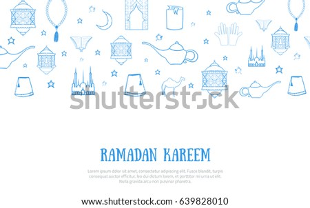 photo regarding Ramadan Cards Printable identify Printable Blue Minimalistic Ramadan Kareem Greeting Inventory
