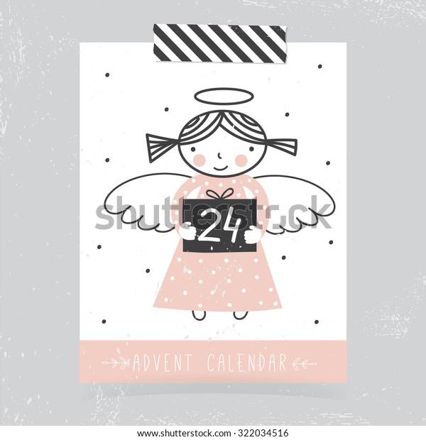 picture regarding Printable Christmas Countdown Calendar called Printable Xmas Arrival Calendar Countdown Xmas
