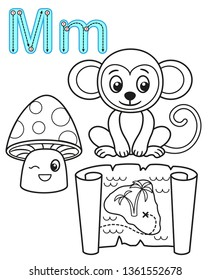 Monkey Coloring Pages - GetColoringPages.com | 280x210
